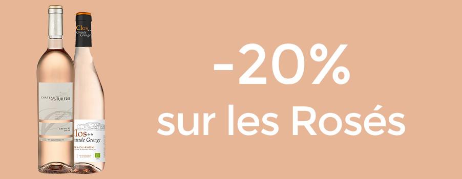 20% sur les rosés